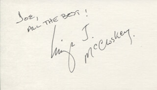 LEIGH J. McCLOSKEY - AUTOGRAPH NOTE SIGNED