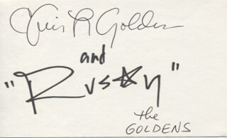THE GOLDENS - AUTOGRAPH CO-SIGNED BY: RUSTY GOLDEN, CHRIS GOLDEN