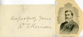Autographs: WILLIAM RALLS MORRISON - AUTOGRAPH SENTIMENT SIGNED