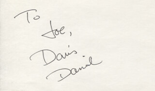 DAVIS DANIEL - INSCRIBED SIGNATURE