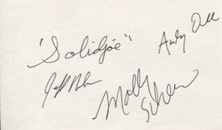 MOLLY AND THE HEYMAKERS - AUTOGRAPH CO-SIGNED BY: MOLLY AND THE HEYMAKERS (MOLLY SCHEER), MOLLY AND THE HEYMAKERS (ANDY DEE), MOLLY AND THE HEYMAKERS (JEFF NELSON), MOLLY AND THE HEYMAKERS (JOE SOLIDJOE LINDZIUS)