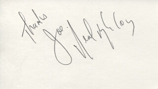 NEAL MCCOY - AUTOGRAPH NOTE SIGNED