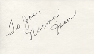 NORMA JEAN BEASLER - INSCRIBED SIGNATURE
