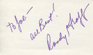 RANDY GRAFF - AUTOGRAPH NOTE SIGNED