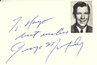 GEORGE MURPHY - AUTOGRAPH NOTE SIGNED