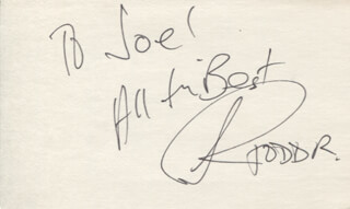 TODD RUNDGREN - AUTOGRAPH NOTE SIGNED