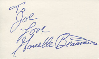 GARCELLE BEAUVAIS - AUTOGRAPH NOTE SIGNED