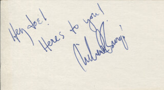 RICHARD BURGI - AUTOGRAPH NOTE SIGNED