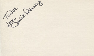JULIE DENNEY - AUTOGRAPH NOTE SIGNED