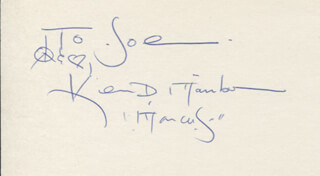 KEVIN D. MAMBO - AUTOGRAPH NOTE SIGNED