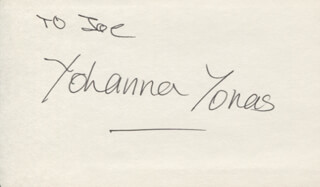 YOHANNA YONAS - INSCRIBED SIGNATURE
