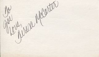 THE MCCARTERS (TERESA MCCARTER) - AUTOGRAPH NOTE SIGNED