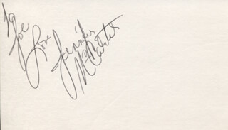 THE MCCARTERS (JENNIFER MCCARTER) - AUTOGRAPH NOTE SIGNED