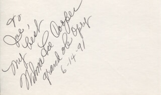 WILMA LEE COOPER - AUTOGRAPH NOTE SIGNED 06/14/1991