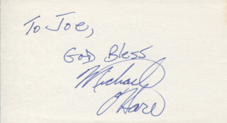 MICHAEL O'HARE - AUTOGRAPH NOTE SIGNED