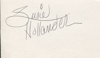 THE HOLLANDERS (SUSIE HOLLANDER) - AUTOGRAPH