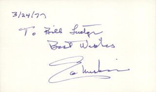 EDMUND S. MUSKIE - AUTOGRAPH NOTE SIGNED 03/24/1977