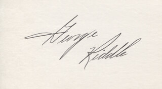 GEORGE RIDDLE - AUTOGRAPH