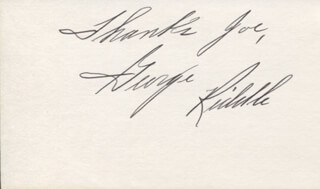 GEORGE RIDDLE - AUTOGRAPH NOTE SIGNED