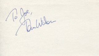 TOM F. WILSON - INSCRIBED SIGNATURE