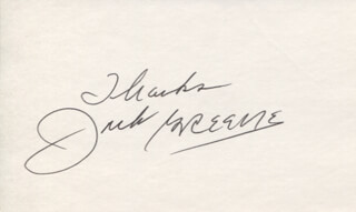 JACK GREENE - AUTOGRAPH SENTIMENT SIGNED