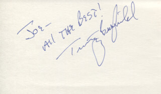 TIMOTHY BUSFIELD - AUTOGRAPH NOTE SIGNED