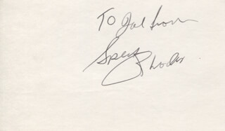SPECK RHODES - AUTOGRAPH NOTE SIGNED