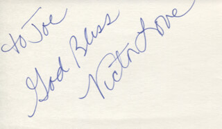 VICTOR LOVE - AUTOGRAPH NOTE SIGNED