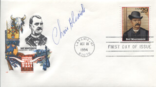 CHRIS ALCAIDE - FIRST DAY COVER SIGNED