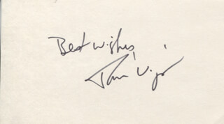 TOM WIGGIN - AUTOGRAPH SENTIMENT SIGNED