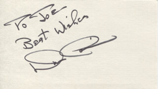 DON CORREIA - AUTOGRAPH NOTE SIGNED