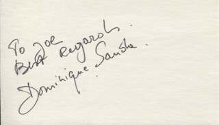 DOMINIQUE SANDA - AUTOGRAPH NOTE SIGNED