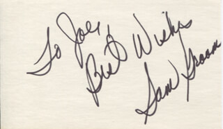 SAM GROOM - AUTOGRAPH NOTE SIGNED