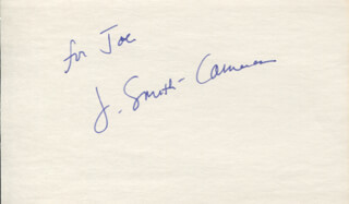 J. SMITH-CAMERON - INSCRIBED SIGNATURE