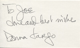 DONNA FARGO - AUTOGRAPH NOTE SIGNED