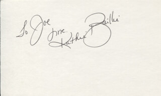 BAILLIE AND THE BOYS (KATHIE BAILLIE) - AUTOGRAPH NOTE SIGNED
