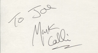 MARK COLLIE - INSCRIBED SIGNATURE