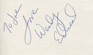 WENDY EDMEAD - AUTOGRAPH NOTE SIGNED