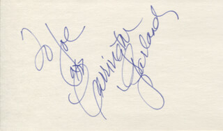 CARRINGTON GARLAND - AUTOGRAPH NOTE SIGNED