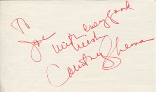 COURTNEY (SHERMAN) SIMON - AUTOGRAPH NOTE SIGNED