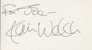 KEVIN WELCH - INSCRIBED SIGNATURE