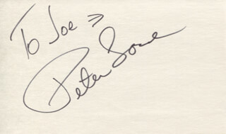 PETER LOVE - INSCRIBED SIGNATURE