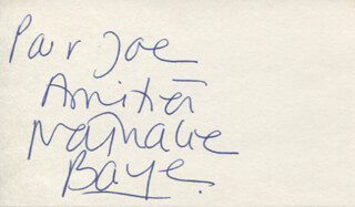 NATHALIE BAYE - AUTOGRAPH NOTE SIGNED