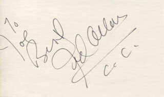 JED ALLAN - AUTOGRAPH NOTE SIGNED  - HFSID 346834