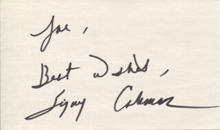 SIGNY COLEMAN - AUTOGRAPH NOTE SIGNED
