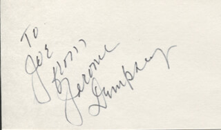 JEROME DEMPSEY - AUTOGRAPH NOTE SIGNED
