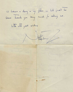SIR NOEL COWARD - AUTOGRAPH LETTER SIGNED 04/16/1924