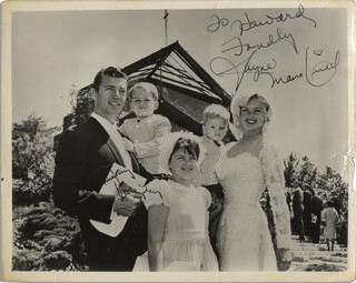 JAYNE MANSFIELD - AUTOGRAPHED INSCRIBED PHOTOGRAPH CO-SIGNED BY: MICKEY HARGITAY