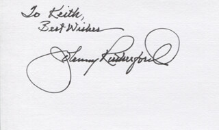 JOHNNY RUTHERFORD - AUTOGRAPH NOTE SIGNED