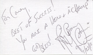RAY BOOM BOOM MANCINI - AUTOGRAPH NOTE SIGNED 01/23/2012